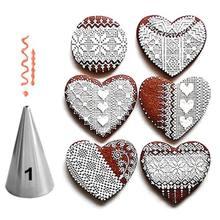 5 estilos de aço inoxidável piping bocais conjunto metal creme dicas bolo creme decoração ferramentas pastelaria bakeware bicos