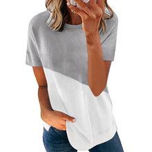 SNAKE YX abbigliamento donna estate nuova moda donna stampata manica corta girocollo Casual T-shirt sottile morbida e confortevole