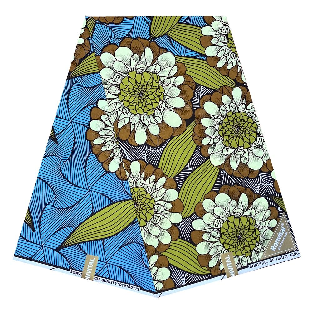 African Wax 100% Cotton Wax High Quality Ankara African Lattice Prints Wax Fabric 100% Real Dutch African Ankara Sewing Fabric