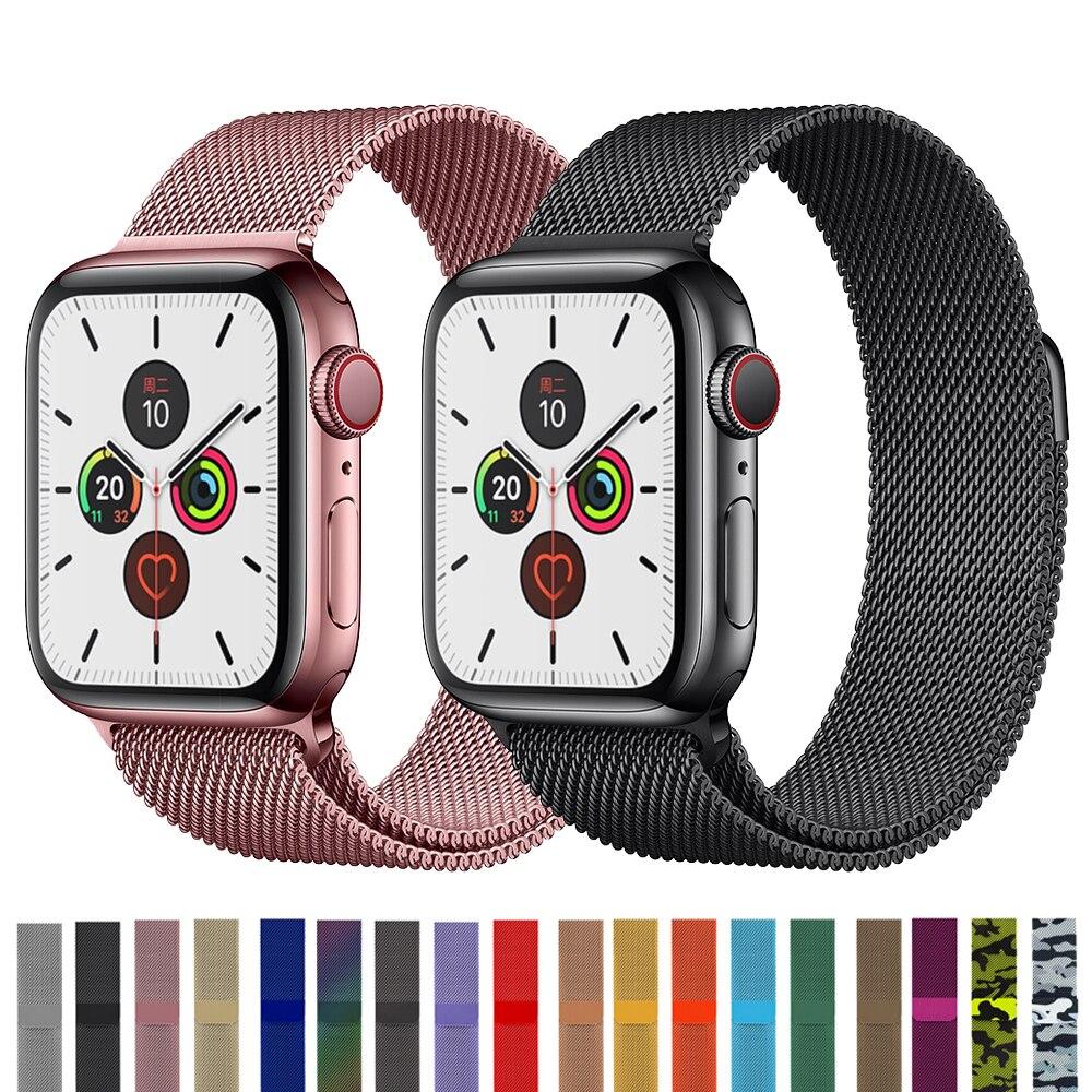 Milanese Loop Strap For Apple Watch Band Pulseira Apple Watch 5 4 3band 44mm/40mm Iwatch Magnetic Band 42mm 38mm Correa Bracelet