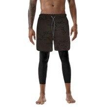 MoneRffi мужские 2 в 1 штаны для бега со встроенными карманами, на бедрах, с потайными карманами на молнии, спортивные брюки для фитнеса, Мужские штаны на шнурке