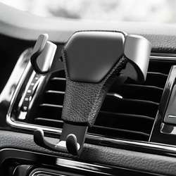 Universal Gravity Auto Phone Holder Car Air Vent Clip Mount Mobile Phone Holder CellPhone Stand Support For iPhone For Samsung