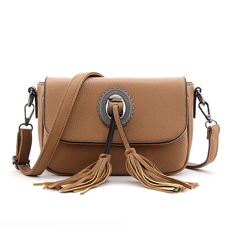 <font><b>REREKAXI</b></font> Fashion Women's Shoulder Bag Female Tassel Crossbody Bags Travel PU Messenger Bag Daily Shopping High Quality handbag image