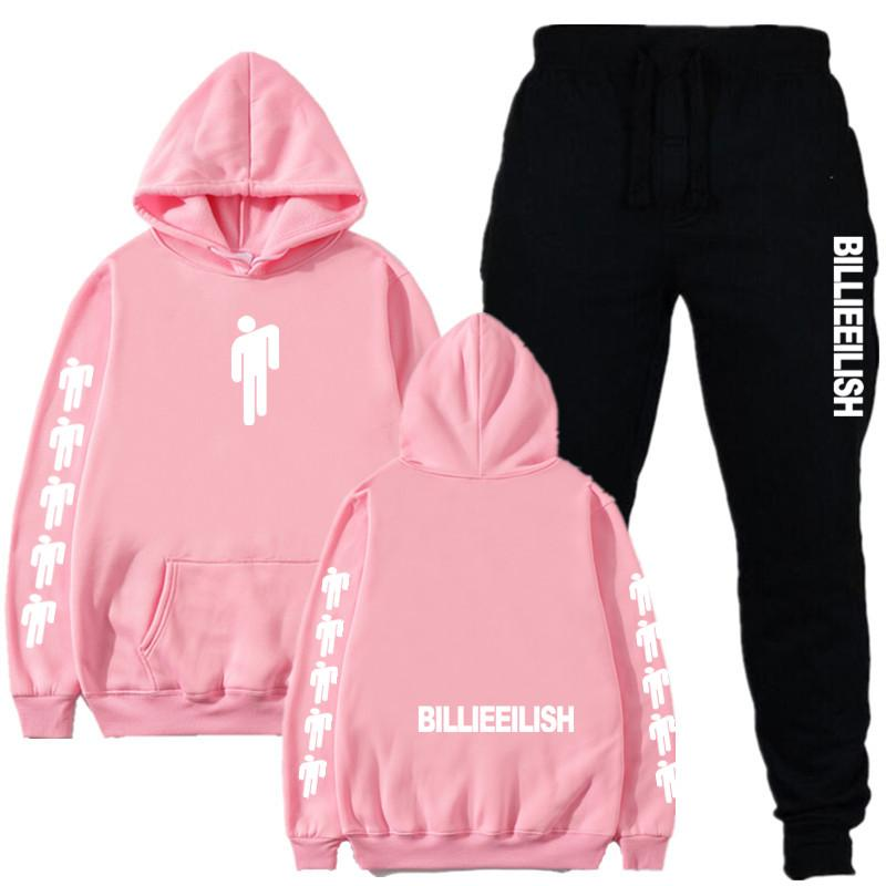 2020 New Men's And Women's Track And Field Suit Set, Pink Hoodie And Ladies Hoodie, Winter Couple Suit