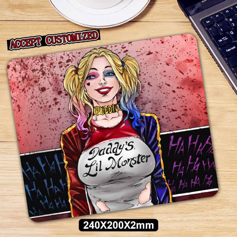 Harley Quinn Gaming Mouse Pad Anti-Slip Karet Alam Alas Mouse Keyboard Pad Meja Tikar untuk Laptop Komputer Gamer mousepad