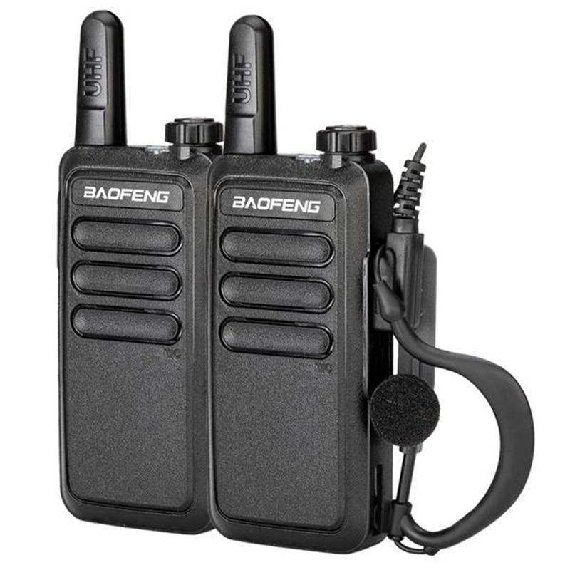 2Pcs Outdoor Walkie Talkie UHF 400-470Mhz Dual Band Handheld Two Way Radio Communicator Baofeng BF-R5 USB Charge Walkie Talkie