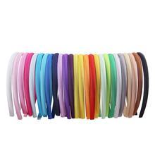 1/1.5/2cm Satin Headbands Women Girls Kids DIY Hairbands Covered Resin High Elastic Tiara Hair Hoop Accessoories