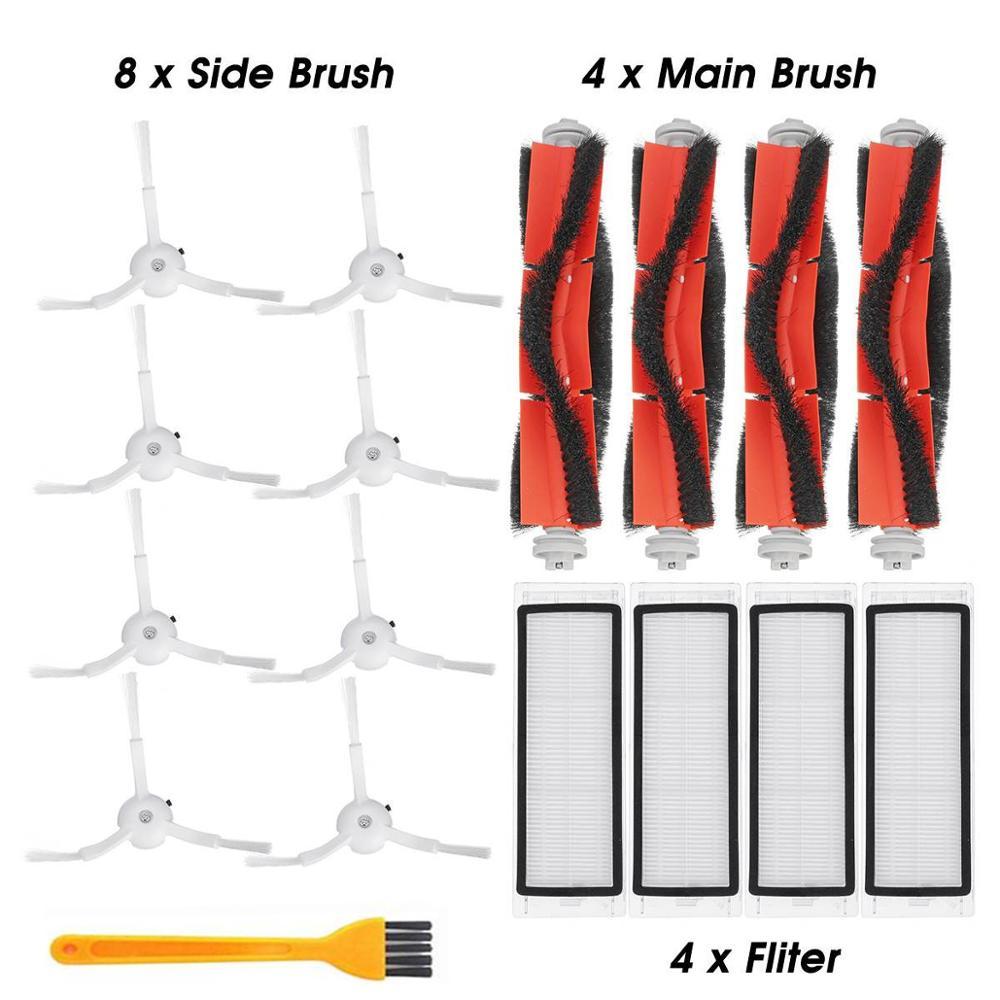 Xiaomi Mi Roborock Vacuum Cleaner Parts Of 8 Side Brush 4 Roller Brush 4 HEPA Filter For Mi Roborock Vacuum Cleaner Accessories