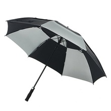 Long Handle umbrella automatic  Large Umbrella Golf Rain Windproof Double-layer Auto-open Long-handle 50RR74