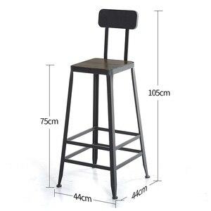 Image 5 - Taburete fauteuil sandalyesi hokery sedia banquetaトドスサントスtiposみすぼらしいシックなtabouretデ近代スツール現代新羅バー椅子