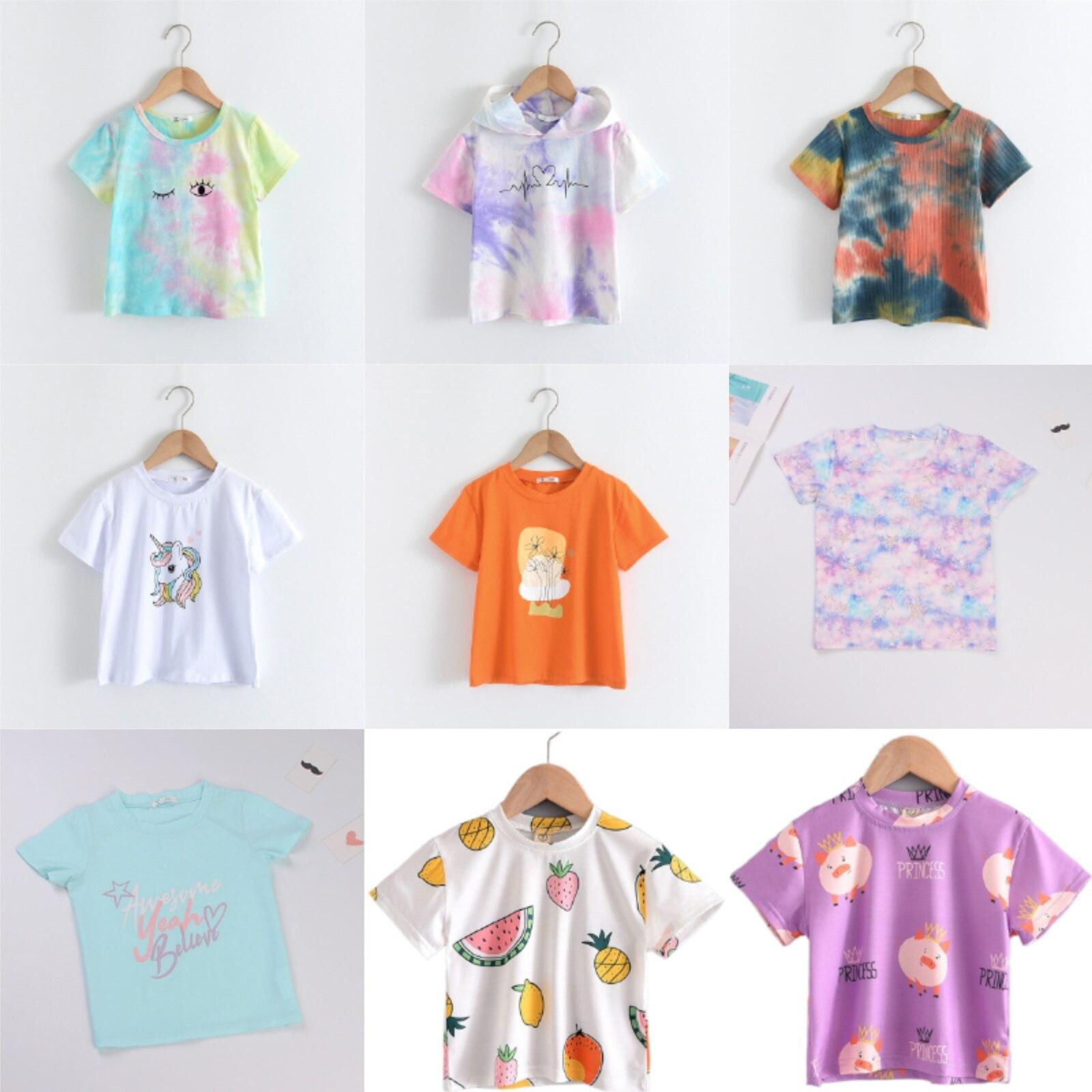 Menoea 2-7T T-shirt à manches courtes pour enfants coton motif T-shirts garçon enfant garçons et filles hauts chemises 2020 enfants T-shirt