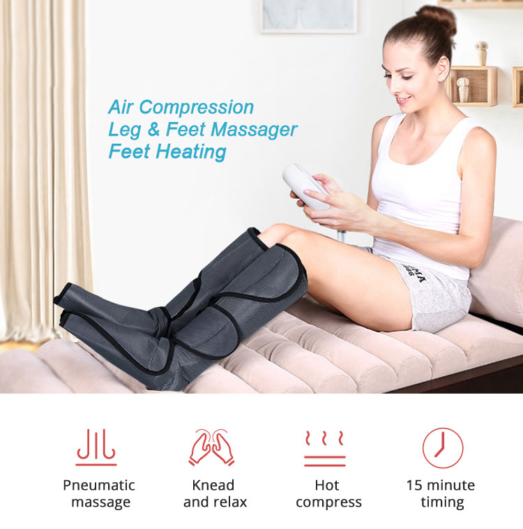Air Compression Leg Foot Calf  Massager For Circulation and Relaxation