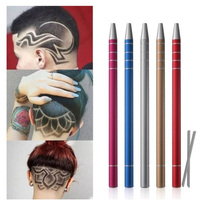 Hair Tattoo Trim Styling Engraving Pen Face Eyebrow Beard Shaping Scissors Razor Barber Accessories Hairdressing Supplies