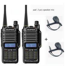 2 sztuk wakie talkie IP67 pyłoszczelna wodoodporna CB Radio baofeng uv 9r plus dla hf 2 way ham radio kit policja skaner