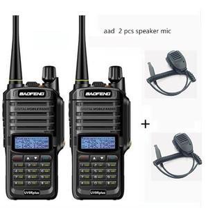 Image 1 - 2pcs wakie talkie IP67 Dustproof Waterproof CB Radio Communicator baofeng uv 9r plus for hf  2 way ham radio kit police scanner