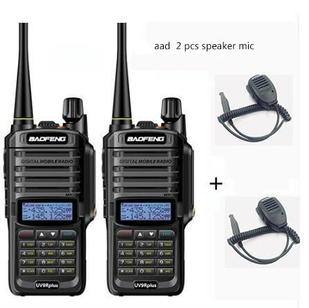 2pcs wakie talkie IP67 Dustproof Waterproof CB Radio Communicator baofeng uv 9r plus for hf  2 way ham radio kit police scanner
