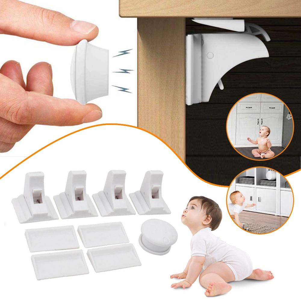 Magnetic Lock Protection From Children Door Stopper Baby Safety Cabinet Door Lock Kids Drawer Door Lock Security Invisible Locks
