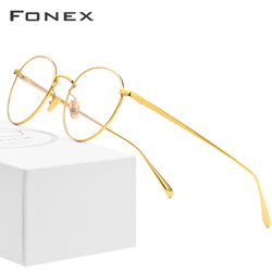 Pure Titanium Glasses Frame Men Vintage Round Myopia Optical Prescription Eyeglasses Frames Women Female Retro Oval Eyewear 893