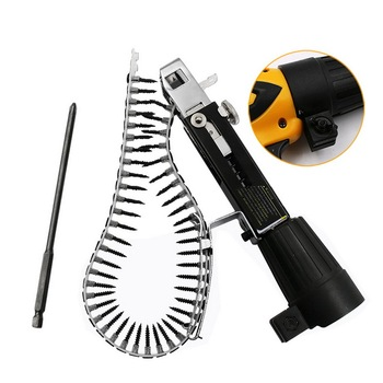 1Set Automatic Chain Nail Gun Adapter Screw Gun for Electric Drill Woodworking Tool Cordless Power Drill Attachment 220v 530w 1pc screw speed control hand held electric drill automatic continuous electric screw gun wood finishing tool