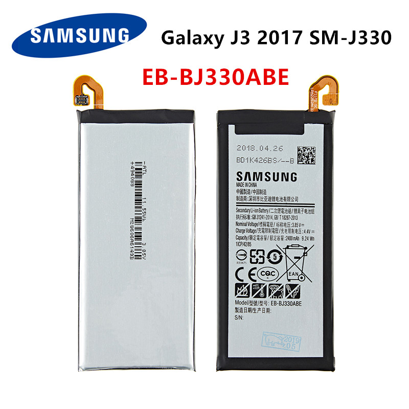 SAMSUNG Orginal EB-BJ330ABE 2400mAh Battery For Samsung Galaxy J3 2017 SM-J330 J3300 SM-J3300 SM-J330F J330FN J330G SM-J330L