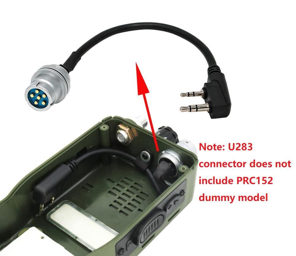 U-283/U Walkie Talkie DIY Connector 6 Pin Plug Turn To Kenwod Adapter For AN/PRC 152 /PRC 148 Harris Dummy Case Walkie Talkie