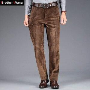 Image 2 - 2020 осень и зима новые мужские вельветовые повседневные брюки деловые модные высококачественные прямые Стрейчевые брюки мужские брендовые