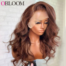 Ombre Body Wave 13x6x2 Lace Front Human Hair Wigs Transparent Lace Wig Pre plucked Bleached Knots Wigs for Women Brazilian Hair