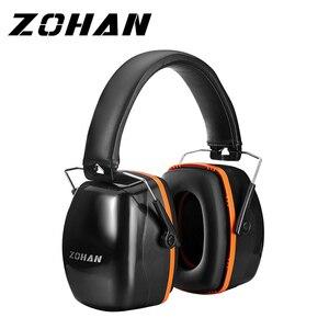 Image 1 - Шумоподавляющие наушники ZOHAN, наушники NRR 28 дБ, наушники для защиты слуха, регулируемые наушники протекторы, гарнитура