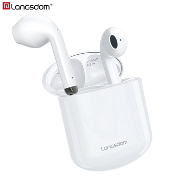 Langsdom T17 Wireless Headphones Volume Control auriculares TWS Bluetooth Earphones True Wilress Earbuds with Dual Mic for Phone