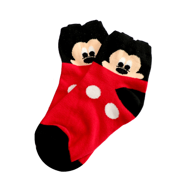 2-12Year Jacquard Mickey Minnie Comfort Warm Cotton High Quality Kids Girl Baby Socks Child Boy children Socks 3