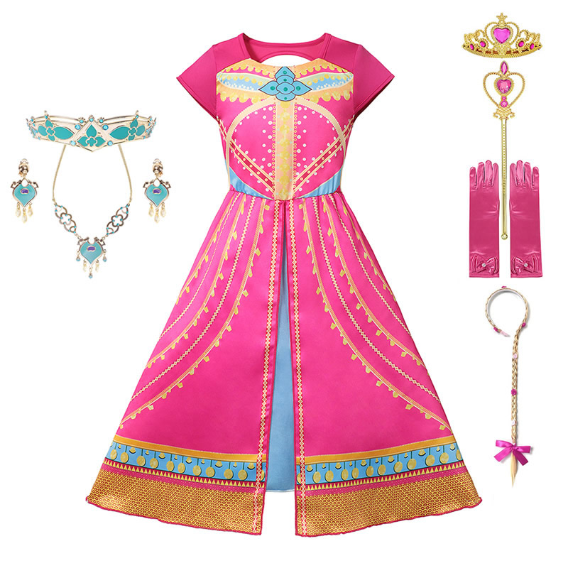 Kids Descendants 3 Mal Dress Up Girls Aladdin Jasmine Role Playing Outfits Woody