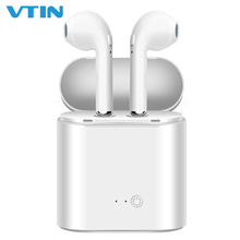 VTIN i7s Tws Bluetooth Earphones Mini Wireless Earbuds Sport Handsfree Earphone Cordless Headset with Charging Box for xiaomi все цены