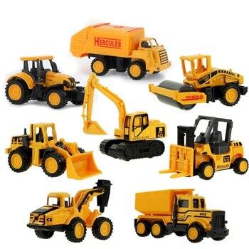 4 estilos mini mini liga de engenharia carro trator brinquedo caminhão basculante modelo clássico carros de brinquedo para crianças presente do menino