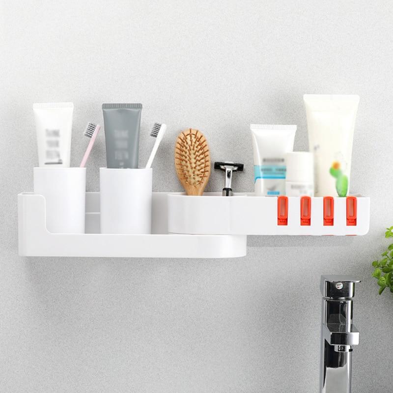 ABS Shower Caddy Shelf Bath Rack Storage Holder Organizer Rotatable For Bathroom Corner Tools & Accessories OA66