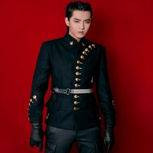 Suit Jacket Uniforms Stage-Costumes Men Clothing Hairstylist Military Plus-Size Fashion