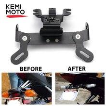 KEMiMOTO ل MT07 FZ07 الحاجز مزيل لوحة ترخيص قوس حامل LED ضوء لياماها MT 07 2014 2015 2016 2017 2018 2019