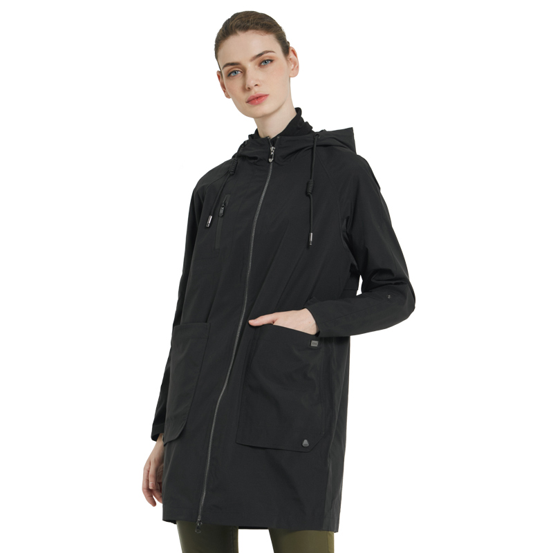 ICEbear 2019 new woman trench coat women fashion with full sleeves design women coats autumn brand casual coat GWF18006D yellow v neck long sleeves crossed front design sweater