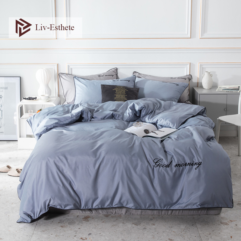 Liv-Esthete Luxury 100% Silk Bedding Set Beauty Duvet Cover Bed Linen Set Pillowcase Fitted Sheet For Bed Room Free Shipping