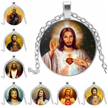 Jesus Sacred Heart Girl Wholesale Luxury Brand Jewelry Glass Cabin Necklace