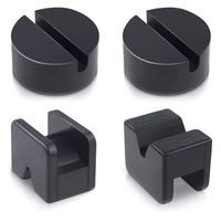 4Pcs Floor Jack Pad Adapter for Jack Stand Universal Rubber Slotted Frame Welds Protector