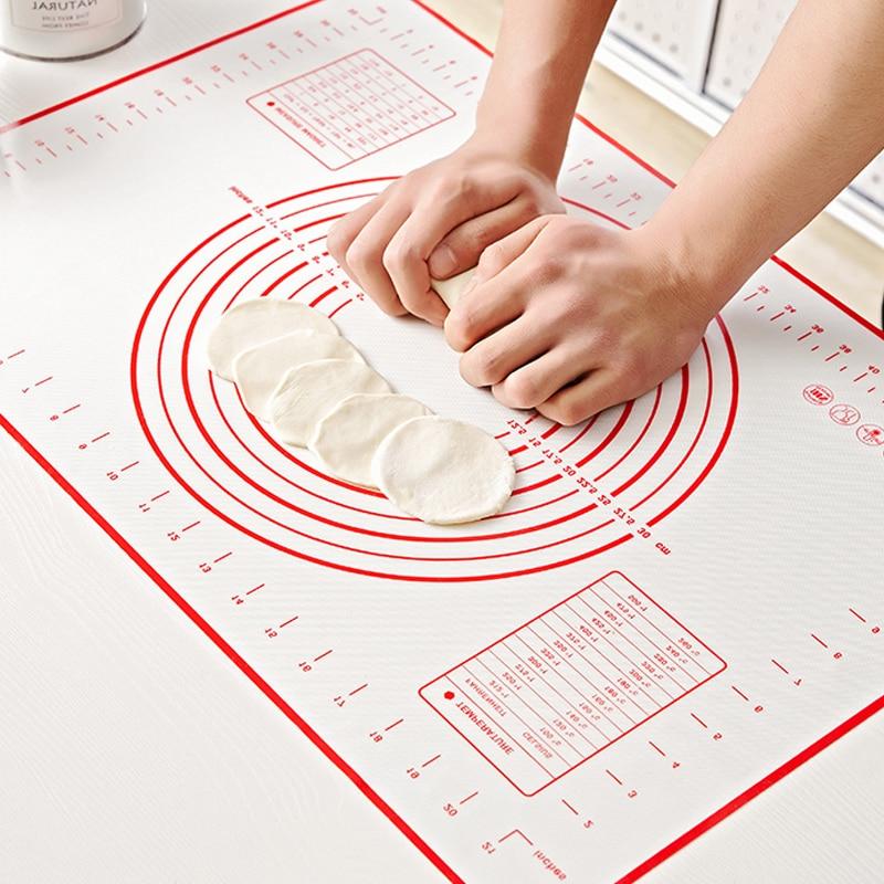 Увеличенный силиконовый коврик для Выпечки Кондитерская роликовая подкладка для замешивания теста Кухонные гаджеты крепы для пиццы тесто антипригарная Подставка Для Сковороды инструменты для приготовления пищи|Принадлежности для выпечки|   | АлиЭкспресс