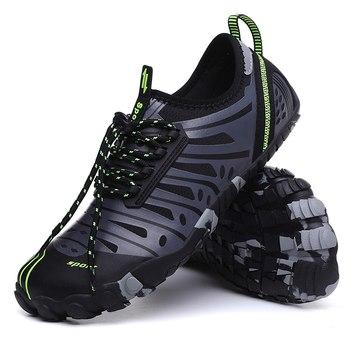 Buty do wody szybkie suche lekkie buty trekkingowe rzeki sportowe buty sportowe na plażę kajakarstwo żeglarstwo piesze wycieczki Surfing Walking tanie i dobre opinie Quick Dry Water Shoes RUBBER Dla dorosłych