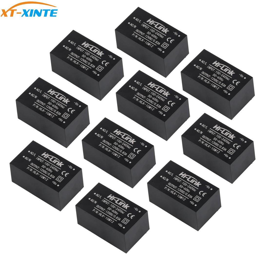 10pcs HLK-PM01 HLK-5M05 10M05 HLK-2M05 AC DC 220V To 5V/3.3V/12V Mini Power Supply Intelligent Household Switch Power Module