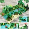 New Creator Series The Jurassic Dinosaur Rainforest Model Building Blocks Set Classic MOC Ideas Education Toys for Children