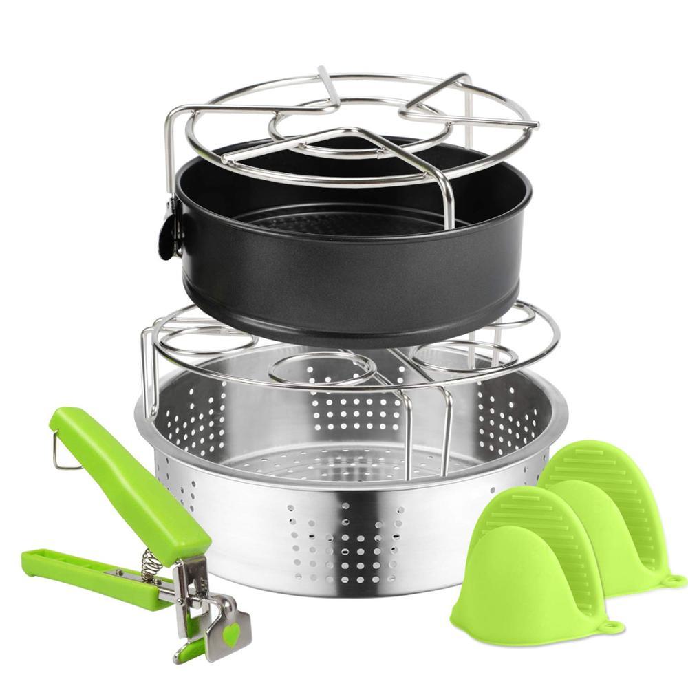 Accessories for Instant Pot,Steamer Basket,Egg Steamer Rack, Pressure Cooker Accessories,Oven glove