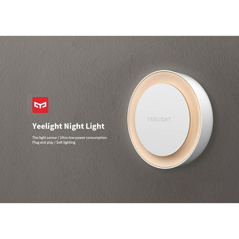 Xiaomi Yeelight LED Night Light Round Bulb XIaomi Smart Home for Children With Light-Sensitive Sensor Smart Wall Lamp EU Version