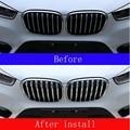 Автомобильная Передняя решетка сетки литья Накладка для BMW X1 F48 2016-2019