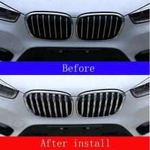 Rejilla delantera para coche, cubierta tipo moldura embellecedora, para BMW X1 F48 2013-2018