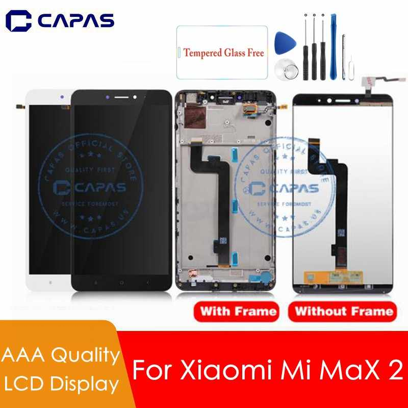 For Xiaomi Mi Max 2 LCD Display Digitizer + Frame For Xiaomi Max2 Touch Screen Assembly TouchScreen Replacement Spare Parts