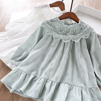 5175 Lace Embroidery Princess Baby Girl Dress 2020 New Spring Party Wedding Kid Dress For Girl Wholesale Children Clothes Lot